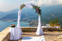 Voûte de mariage Photo stock