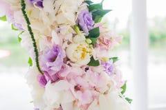 Voûte de mariage avec le détail de plan rapproché Images stock