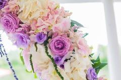 Voûte de mariage avec le détail de plan rapproché Images libres de droits
