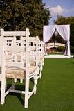 Voûte de mariage avec un lustre Photo stock
