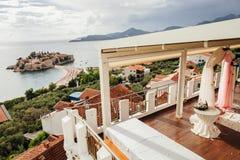 Voûte de mariage de destination avec la belle vue Photos stock