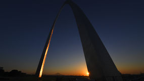 Voûte de passage à St Louis, Missouri photo libre de droits
