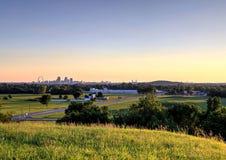 Voûte de passage et horizon de St Louis, Missouri photo stock