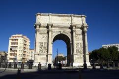 Voûte de triomphe à Marseille, France Photos stock