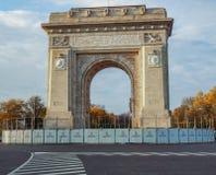 Voûte de Triumph de Bucarest photos libres de droits