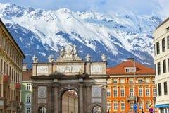 Voûte de Triumph - Innsbruck Autriche photos libres de droits