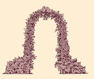 Voûte des fleurs Croquis de vecteur illustration de vecteur