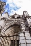 Voûte et porte de la cathédrale de Toledo Photographie stock libre de droits