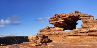 Voûte naturelle de roche de la fenêtre de la nature dans Kalbarri NP, Austra occidental photo libre de droits