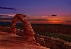 Vo?te sensible dans les vo?tes parc national, Utah, U S a images libres de droits