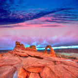 Voûte sensible de parc national de voûtes en Utah Etats-Unis Images libres de droits