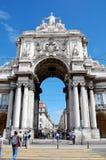 Voûte triomphale à Lisbonne Photographie stock libre de droits
