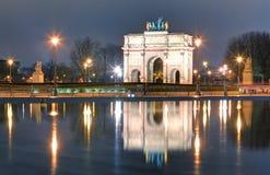Voûte triomphale (carrousel de Triomphe du) devant le Louvre, PA Photographie stock libre de droits