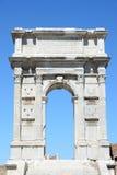 Voûte triomphale d'empereur Troyan à Ancona Photo libre de droits