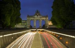 Voûte triomphale de Bruxelles Photographie stock libre de droits