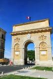 Voûte triomphale de Montpellier Photos stock