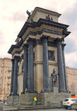 Voûte triomphale sur l'avenue de Kutuzov Image stock