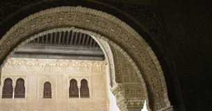 Voûtes d'Alhambra Photo stock