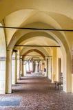 Voûtes de portique d'Avigliana Turin Image stock