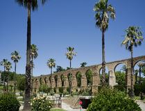 Voûtes de San Anton, aqueduc de Caceres l'espagne Images libres de droits