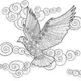 Voar mergulhou no estilo do zentangle Imagem de Stock Royalty Free