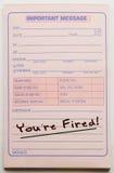 Você é almofada de mensagem despedida Fotografia de Stock Royalty Free