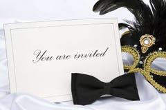 Você é convidado a mascarar o partido imagens de stock royalty free