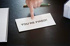 Você é despedido Foto de Stock Royalty Free