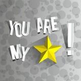Você é minha estrela ilustração royalty free