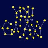 Você é minha galáxia ilustração do vetor