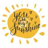 Você é minha luz do sol ilustração do vetor