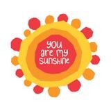Você é minha luz do sol ilustração stock