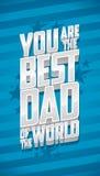 Você é o melhor paizinho do mundo, cartão do dia de pai ilustração do vetor