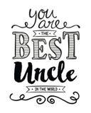 Você é o melhor tio no mundo Foto de Stock Royalty Free
