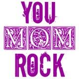 Você balança o projeto tipográfico da mamã para vales-oferta, cartazes, etiquetas, etiquetas, cópia do t-shirt ilustração royalty free