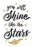 Você brilhará como as estrelas Fotos de Stock Royalty Free