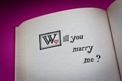 Você casar-me-á? Fotografia de Stock Royalty Free