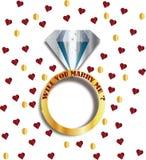Você casar-me-á? Fotografia de Stock