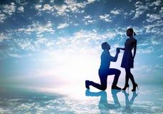 Você casar-me-á? Imagens de Stock Royalty Free