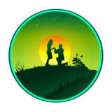 Você casar-me-á Foto de Stock Royalty Free