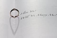 Você casar-me-á anel Imagem de Stock Royalty Free