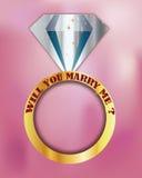 Você casar-me-á? eu te amo Fotografia de Stock