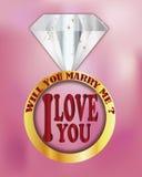 Você casar-me-á? eu te amo Imagens de Stock