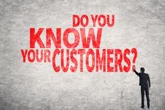 Você conhece seus clientes? fotografia de stock royalty free