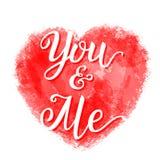 'Você e mim' cartaz da rotulação Ilustração Stock