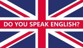 Você fala o inglês 001 ilustração do vetor