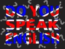 Você fala o inglês? ilustração stock