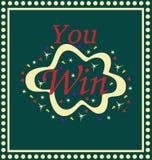 Você ganhou o casino de jogo do jogo da loteria imagens de stock royalty free