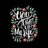 Você ilumina acima minha rotulação da mão da vida ilustração do vetor