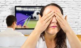 Você não quer ver o futebol fotos de stock royalty free
